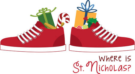 tennis shoe: Heres to spreading a little merry! Get creative on your holiday projects with this design on sweaters, sweatshirts and more.