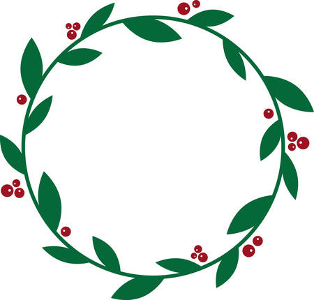 ilex: Deck the halls and the rest of your home in Christmas cheer with this design on your holiday projects.