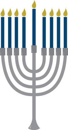 chanukah: The Menorah design is beautiful and bright and fills you to the brim with holiday spirit and is perfect on gifts, table runners, kitchen linens, home decor and on all things Hanukkah!