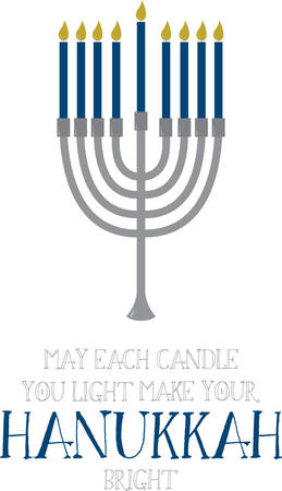 brim: The Menorah design is beautiful and bright and fills you to the brim with holiday spirit and is perfect on gifts, table runners, kitchen linens, home decor and on all things Hanukkah!