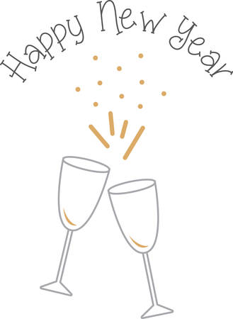 good health: Toast to good health and cheer! Ring in the new year with this perfect design on cocktail napkins and personalized gifts for loved ones!
