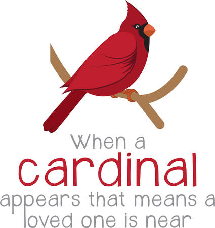 Bring these bright red cardinals home to roost and add a touch of color to your indoor wintry decorations with this design on your holiday projects! Illusztráció