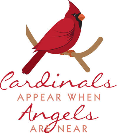roost: Bring these bright red cardinals home to roost and add a touch of color to your indoor wintry decorations with this design on your holiday projects! Illustration