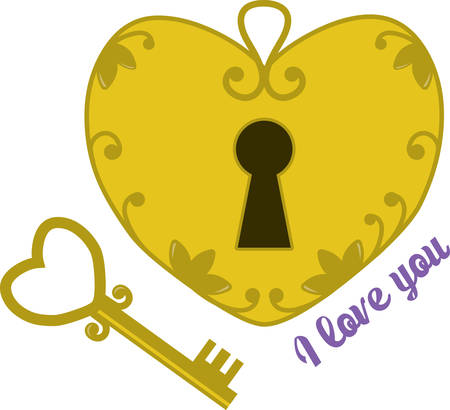 door lock love: Spread the love on your Valentines Day projects with this design!  Stitch a lovely look onto towels, table linens, pillows and more!