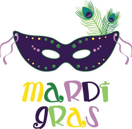 good times: Let the good times roll! Celebrate Mardi Gras with this whimsical design on clothing, framed embroidery, banners and more!