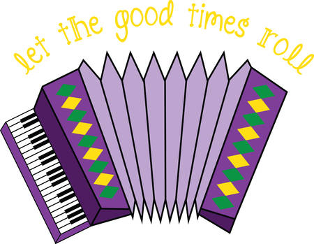 This lively and colorful accordion design is a stylish accent to towels, linens, and pockets for music lovers!