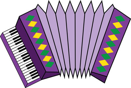 squeeze shape: This lively and colorful accordion design is a stylish accent to towels, linens, and pockets for music lovers!