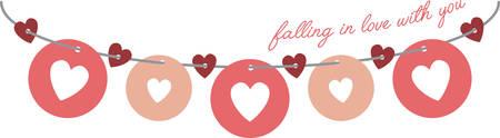 Addolcire il tuo San Valentino e mostrare un po 'd'amore con questo disegno sui vostri progetti di vacanza. Archivio Fotografico - 51596252