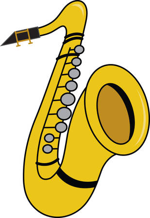 This saxophone is perfect for the music fan in your home!  Stitch this cool drum design on shirts, bags, and more for your music lovers.