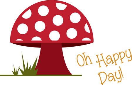 바디 수트, 레이 테넷, 티셔츠, 모자, 턱받이에 사랑스럽고 귀여운 버섯 모티프로 키즈 자수를 넣어보세요. 일러스트