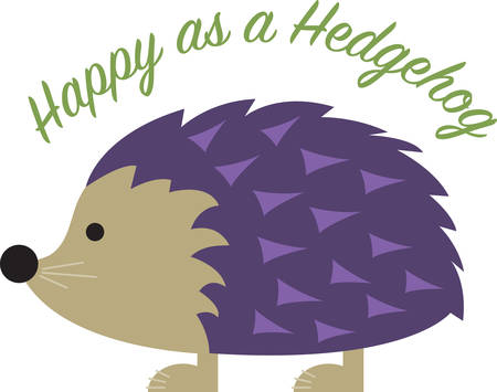 fascinated: Kids are always fascinated by wildlife.  Let this little hedgehog hop directly onto childrens blankets and quilts.