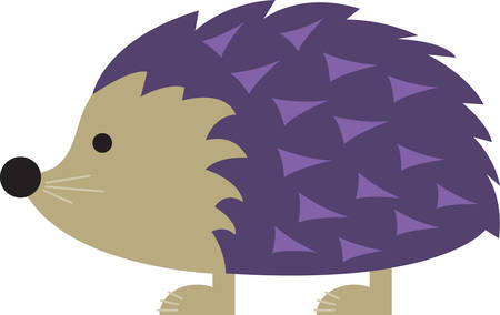 Kids are always fascinated by wildlife.  Let this little hedgehog hop directly onto childrens blankets and quilts.