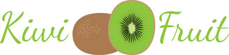 splendid: Create a splendid look for summer with tasty kiwi fruits on place mats and household linen! Illustration