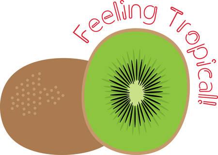 Maak een prachtige look voor de zomer met smakelijke kiwi's op placemats en huishoudlinnen!
