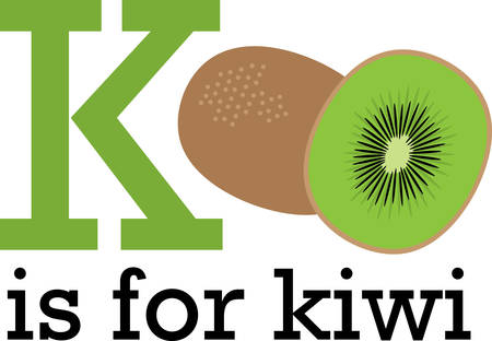 Create a splendid look for summer with tasty kiwi fruits on place mats and household linen! Ilustração
