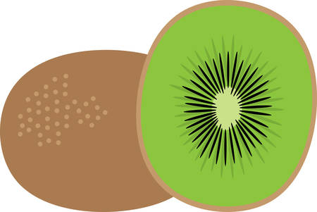 Create a splendid look for summer with tasty kiwi fruits on place mats and household linen! Иллюстрация