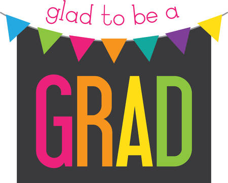 pennant bunting: Share stories and preserve memories.  This design is great to use as a decoration for your grad party and also makes a great keepsake.