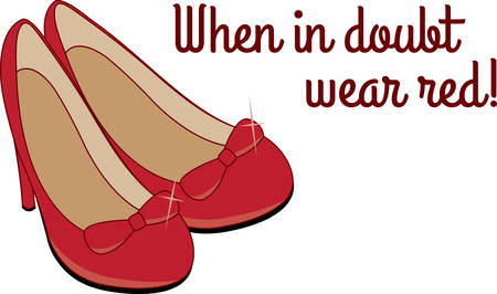 ruby: Accessorize to your hearts desire.  Get these dressy pumps on your indoor projects and add personality to your style.