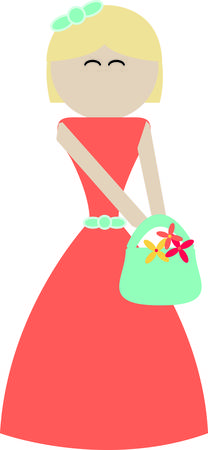 Deck the flower girl out in style on the big day!  Customize gifts and accessories with this design on clothing, framed embroidery, throw pillows and more!  イラスト・ベクター素材