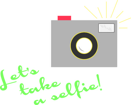Strike a pose or say cheese!  This design is great on t-shirts, sweatshirts, totes and more for your photography enthusiasts!
