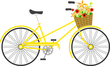 two wheeler: Flowers add unique style and cheer to any space.  Get the spirit of spring on your projects with this design.