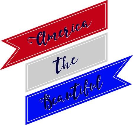 Maak een perfecte eerbetoon aan het land dat u met deze patriottische en nationale trots ontwerp op uw projecten.