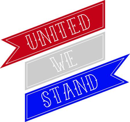 Maak een perfecte eerbetoon aan het land waar u van houdt met dit patriottische en nationale trotsontwerp op uw projecten. Stock Illustratie