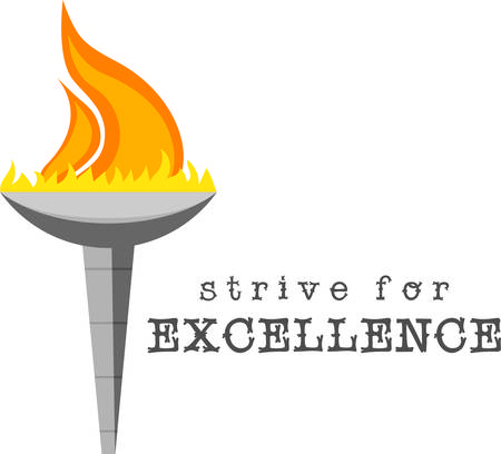 strive for excellence. design for banners, clothing, framed embroidery