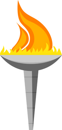 torch design for banners, clothing, framed embroidery