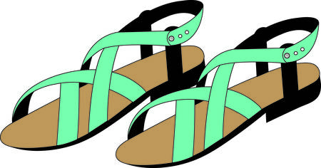 sandals: Accessorize to your hearts desire.  Get these sandals on your indoor projects and add personality to your style!