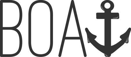 Un design parfait pour votre marin, plaisancier ou un amant de toutes choses broder nautique sur les vêtements, serviettes, sacs d 'équipement, t-shirts, vestes ou des tentures murales. Banque d'images - 63629211