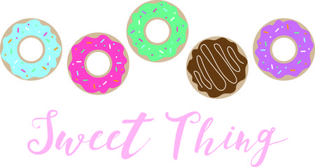 This donut border is springboard for your wildest color and flavor combinations.  Get this appetizing design on your home projects!