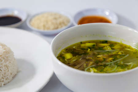 soto. Soto is traditional food from Indonesia Stock Photo