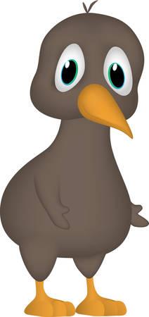 Cartoon of a friendly kiwi
