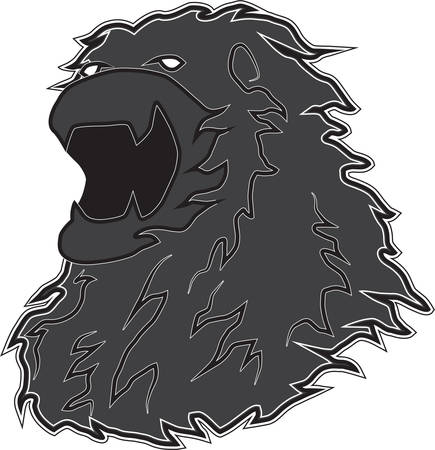 The symbol of the lion roars dashing