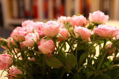 Bunch of small pink Roses  photo