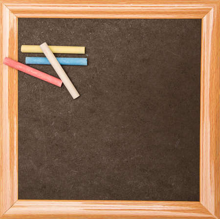 Blackboard with a wooden frame, isolated  Stock Photo
