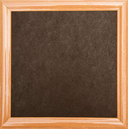 Blackboard with a wooden frame, isolated  photo
