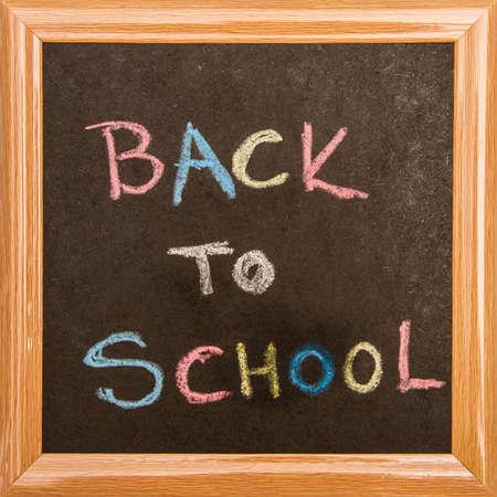 Blackboard Back to school, isolated photo