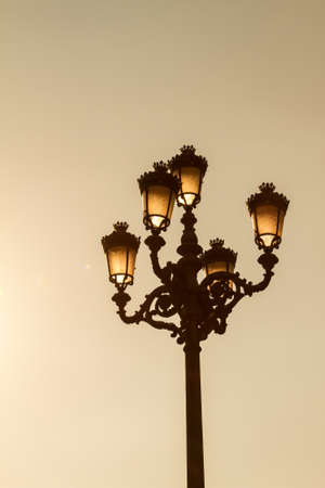 A lamp post from the Plaza Mayor, Madrid  photo