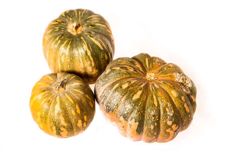 Pumpkins on a white , isolated  photo