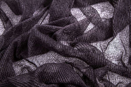 A fancy wrinkled weaved black background