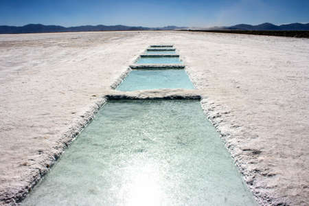 A huge salt field in the north of Argentina photo