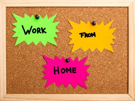 Nieuw concept van het werken vanuit huis