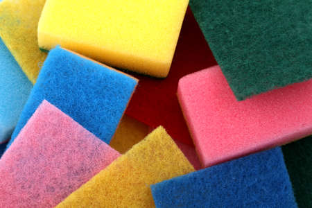 absorb: A lot of sponges in different colors