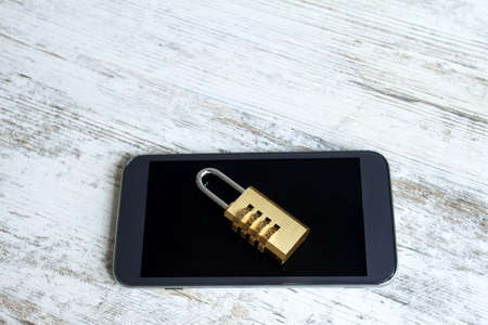 unaccessible: Preserving the cell phone data  Stock Photo