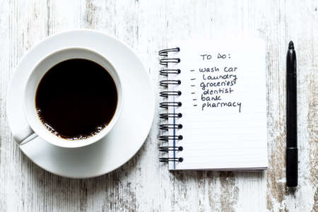To do list meanwhile having a coffee photo