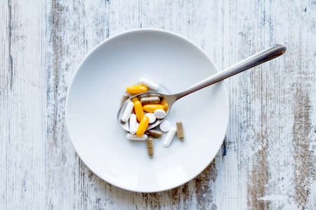dietary supplements: Vitamins and dietary supplements Stock Photo