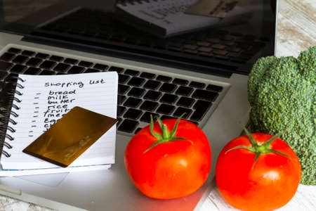 Buying groceries on line with a credit card