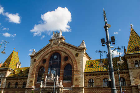 market hall: The Great Market Hall in Budapest, Hungary